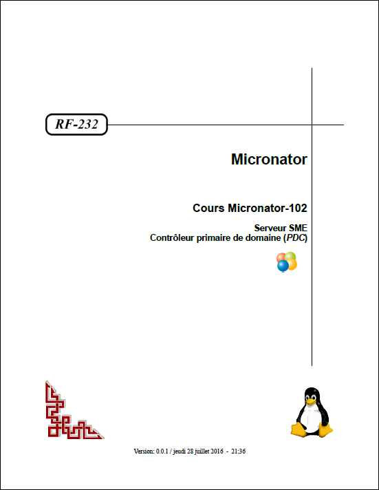 RF-232 Cours Micronator-102 Page titre