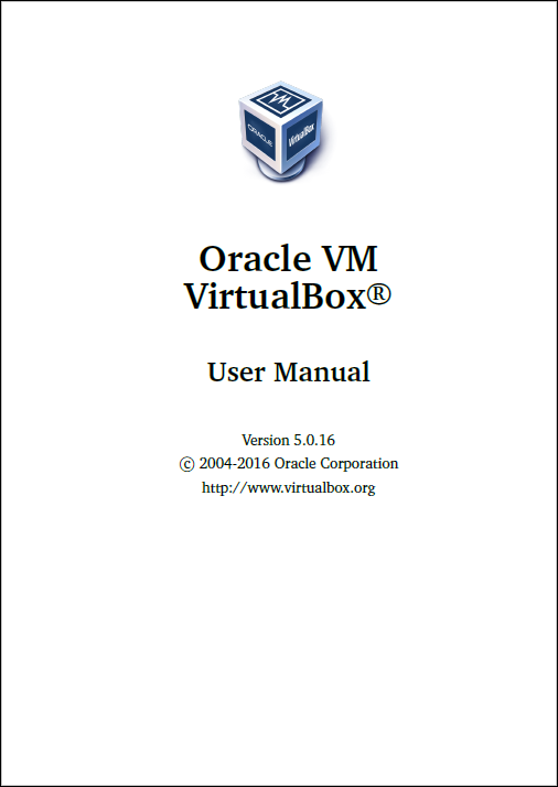 VirtualBox-5.0.16 User Manual